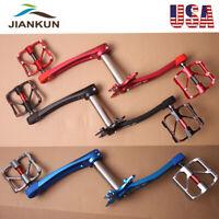 US MTB Road Bike 104BCD Crankset 9/16in 3 Bearing Pedals Crank Protector BB
