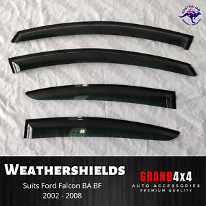 Weathershields Window Visors for Ford Falcon BA BF Fairmont Futura 2002 - 2008