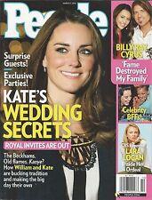 People magazine Kate Middleton Billy Ray Cyrus Celebrity BFFs Lara Logan