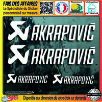 4 Stickers Autocollant akrapovic sponsor échappement decal moto