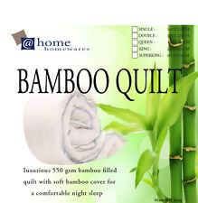 500GSM 100% Bamboo Quilt Doona Cotton Cover Machine Washable King Size