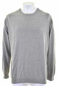 CARHARTT Mens Crew Neck Jumper Sweater 2XL Grey Cotton IM06