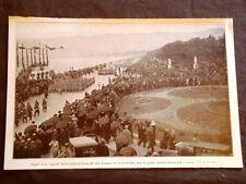 Napoli 11 marzo 1928 Rivista Onorevole Turati Adunata fascista in via Caracciolo