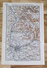1938 MAP OF NUREMBERG NUERNBERG VICINITY FRANCONIAN SWITZERLAND GERMANY BAVARIA