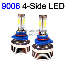 2x 4-Side HB4 9006 LED Headlight Kit Bulbs 80W Super Bright 6000K Crystal White