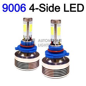 2x 4-Side HB4 9006 LED Headlight Kit Bulbs 80W Super Bright 6000K Crystal White