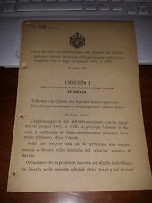 LEGGE X APPANNAGGIO FAMIGLIA DEL DEFUNTO AMEDEO DI SAVOIA 30 GIUGNO 1867 #3761