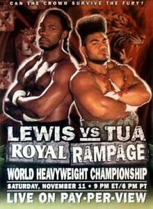 LENNOX LEWIS vs DAVID TUA 8X10 PHOTO BOXING POSTER PICTURE