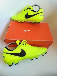 Nike tiempo fg football boots size 7  Pro Version premier neon leather