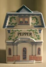 Lenox Spice Village Fine Porcelain Pepper House 1989 Handcrafted - Replacement