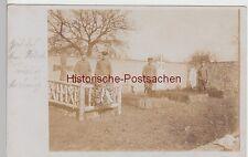 (85966) Foto AK Harbouey, Friedhof, Soldatengräber, 1. WK 1914-18