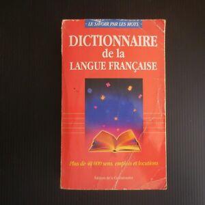 Dictionnaire de la langue française 1995 éditions de la connaissance poche N5398