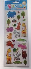 Cute Zoo Animal Self Adhesive Stickers Art Craft Card Making