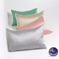 Luxury Soft 100% Mulberry Silk Pillow Case 25Momme Slip Silver Grey Beauty Care