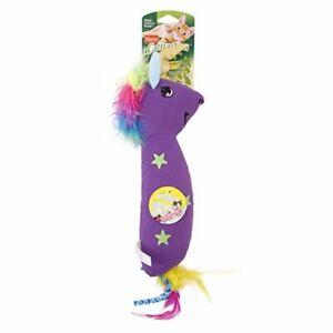Hartz Cattraction Purple Silver Vine & Catnip Magic Unicorn Kicker Plush Cat Toy