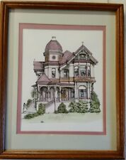 1993 Debbie Patrick Signed Print Victorian House Alameda California