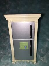 Silver Door Refrigerator Kitchen Fridge Fisher Price Loving Family Dollhouse