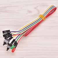 Atx Pc Computadora Placa base Cable de alimentación 2Encender /Apagar/Restabl_ws