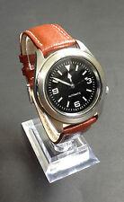 Seiko 5 Genuine Leather Strap Round Wristwatches
