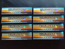 8 x Elements King Size Slim Rice Cigarette Rolling Papers Natural Organic 110mm