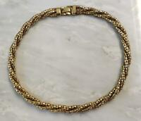 Bigney Yellow Gold Filled 3 Chain Twisted Necklace ~ 11-I6384