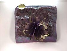 DEUX LUX Purple Floral Rosette Clutch Evening Bag