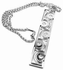 Rare! Authentic Chopard Happy Spirit 18K White Gold Diamond Pendant Necklace