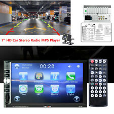 "2DIN 7"" HD Car Stereo Radio MP5 Player Bluetooth Touch Screen& Rear Camera DC12V"
