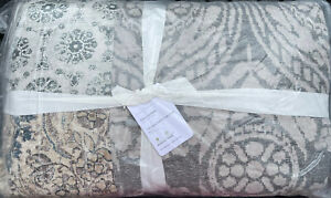 Pottery Barn Tessa Handcrafted Patchwork Full/Queen Quilt Brand New - Gray