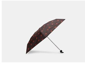 COACH UV Protection Mini Umbrella In Signature SV/Khaki/Pop Floral New With Tag