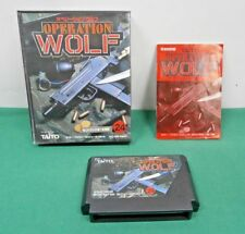 NES - OPERATION WOLF - popular gun action. Boxed. Famicom. Japan game. 10174