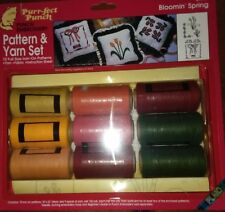 Perfect punch embroidery pattern and yarn with two punch needles. Bloomin Spring