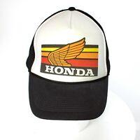 VTG NIssun Honda Motorcycle Trucker Cap Snapback