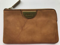 Mimco Echo Leather Honey Tan Small Wallet Pouch Bag Authentic Fits iPhone