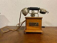 Ancien Téléphone Paris en bois Circa  1910s