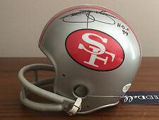 JIMMIE JOHNSON SIGNED SAN FRANCISCO 49ERS FOOTBALL TK HELMET NFL JSA HOF 1994