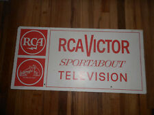 Vintage RCA Victor RADIO Nipper Dog Sportabout Television TV Sign Advertising
