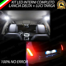 KIT LED INTERNI LANCIA DELTA CONVERSIONE COMPLETA + LED TARGA CANBUS BIANCO
