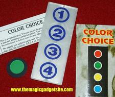 Color Choice Prediction -- clean free choice from four colors   CLEARANCE   TMGS