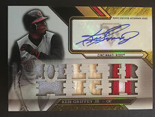 KEN GRIFFEY Jr 2016 TOPPS TRIPLE THREADS AUTO Reds HOF Moeller High School 5/9