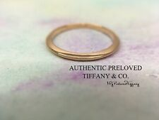 Excellent Authentic Tiffany & Co Knife Edge Milgrain Rose Gold Ring Wedding Band