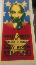 PATTI SMITH Concert Silk Screen Concert Poster Arminski yellow