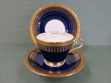 AYNSLEY HERTFORD COBALT GOLD & GILT ENGLISH TRIO VINTAGE