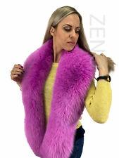 Arctic Fox Fur Stole 70' (180cm) Saga Furs Light Purple Fur Collar Wrap Scarf