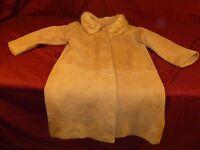 Designer Winsome Frances Shop suede leather winter Coat jacket 35 SOUTH BEND IN