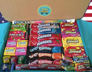 American Sweets Gift Box - 30 Items - USA Candy Hamper - Wonka Nerds - Present