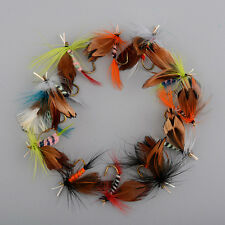12 Pcs/Lot  2cm Wet Dry Trout Flies Fly Fishing Bass Lure Hook Stream Tackle