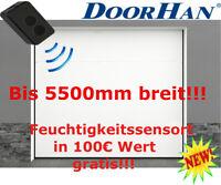 Garagentor Sektionaltor Tor 40mm Rheinweiß L-Sicke Glatt + Motor 2 Handsender