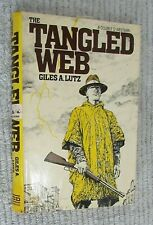 Vintage 1983 The Tangled Web Giles A Lutz Cowboy Double D Western hc dj FREE S/H