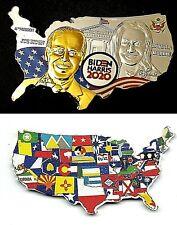 Joe Biden Gold Silver Coin Map Flags President USA Autograph Trump Americana UK